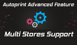 Multi Stores support in Autoprint extension