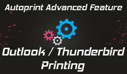 Outlook or Thunderbird automatic printing
