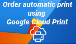 Order autoprint using google cloud print