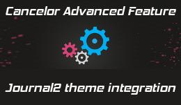 Cancelor integration with jounal2 theme