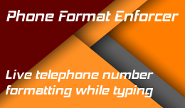 Telephone Field Format Enforcer