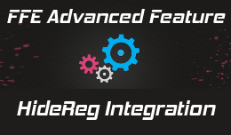 FFE3 Integration with HideReg