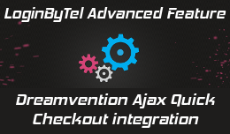 Login By Telephone for Dreamvention Ajax Quick Checkout - advanced feature