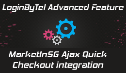 Login By Telephone for MarketInSG Ajax Quick Checkout - advanced feature