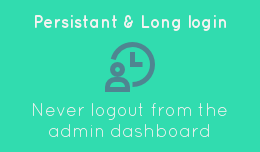 Admin long login - token in cookie