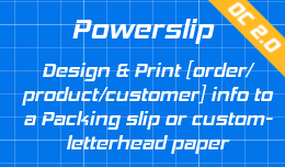 Powerslip: Design and Print Order info on company paper OC2