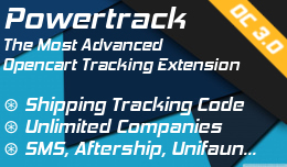 Powertrack: Add shipping tracking code for any company - OC3