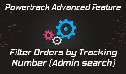 Admin search: Filter orders by tracking number