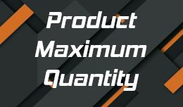 Product Max Quantity