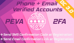 PEVA: Phone and Email Verified Accounts (Control at registration) - OC3