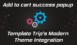 Add to cart beautiful popup for Template Trip Modern Theme