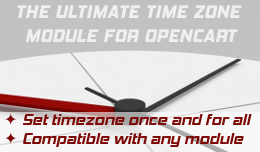 TimeZone Setting for Opencart 2 (Bonus:Set orders time h:m)